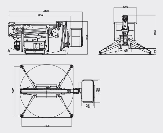Plataformas Elevadoras - Bluelift SA18HB